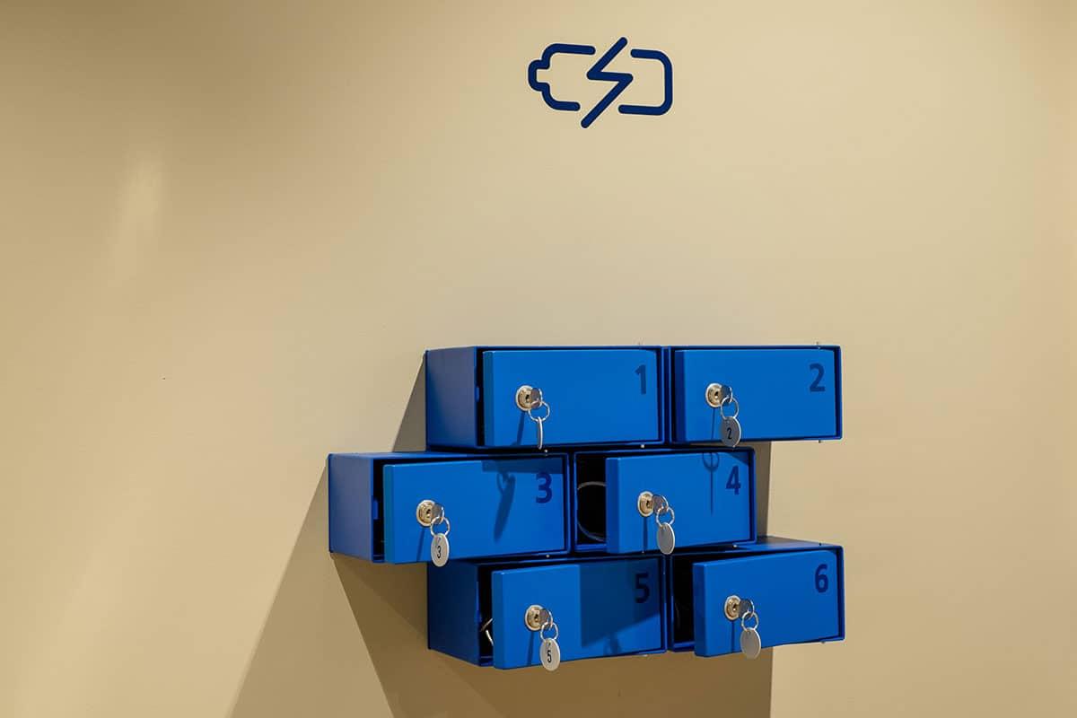 Akku Ladestation im o2 Future Store Jena Goethe Galerie