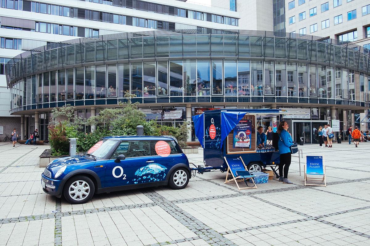 o2 Promotion auf dem Campus Jena