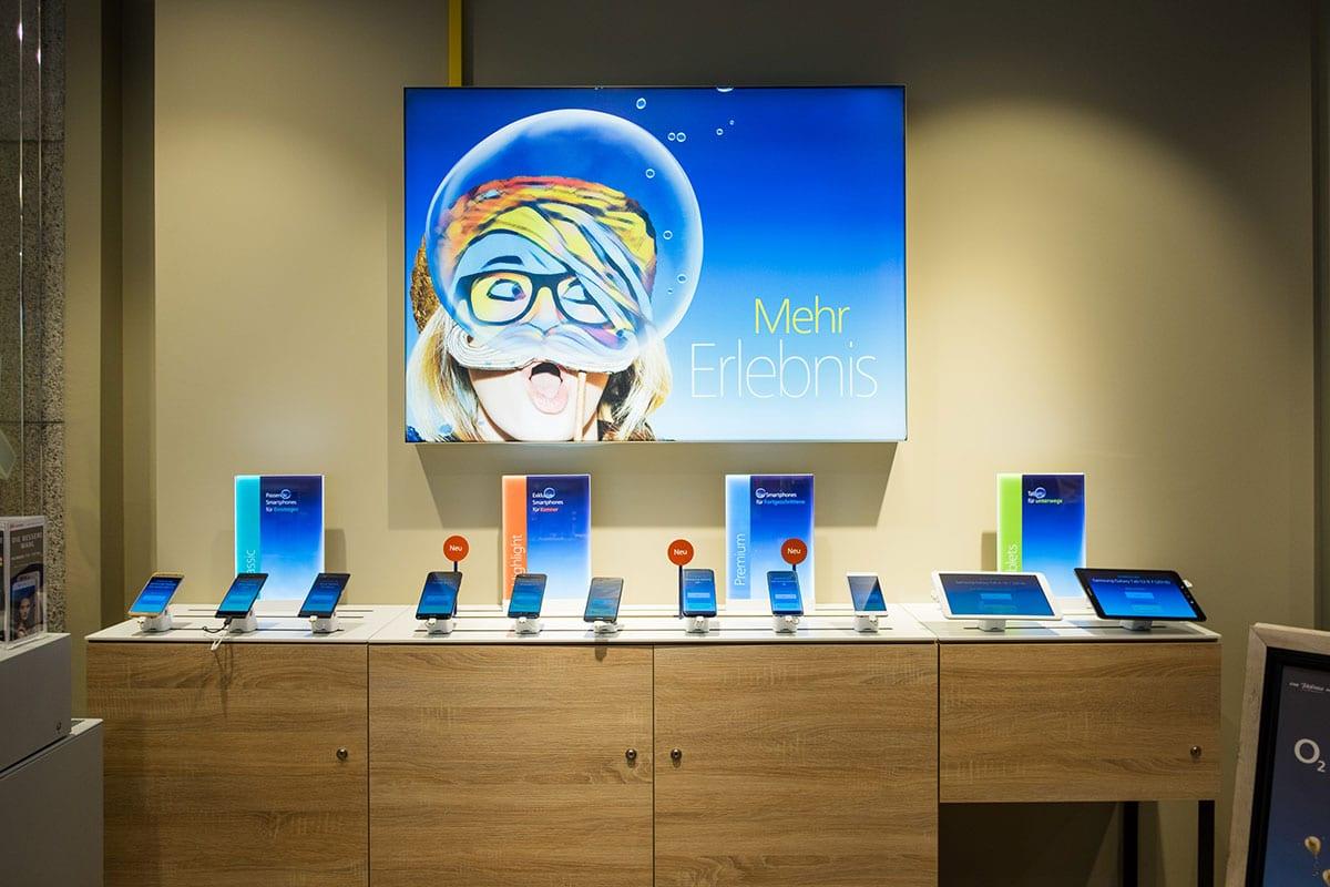 Tablets & Smartphones testen im o2 Future Store Jena