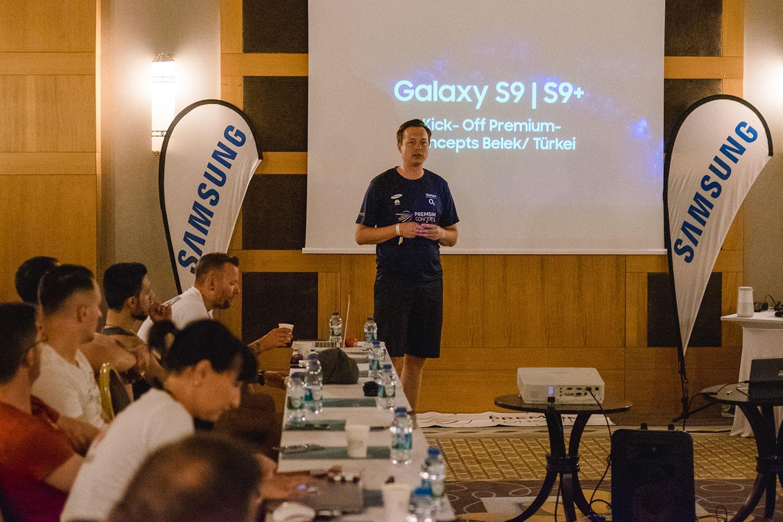 Samsung beim Kickoff 2018