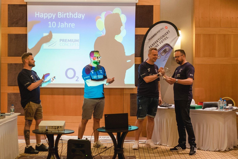 Telefonica gratuliert zum Firmenjubiläum