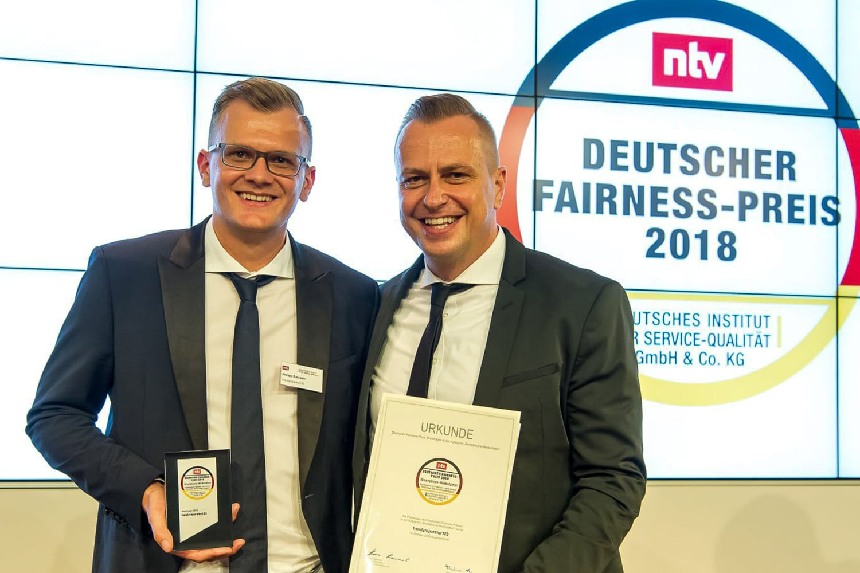 Deutscher Fairness-Preis 2018 an handyreparatur123 verliehen