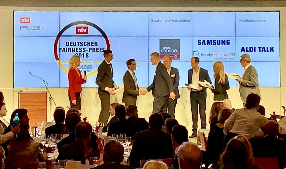 Preisverleihung Deutscher Fairnesspreis 2018
