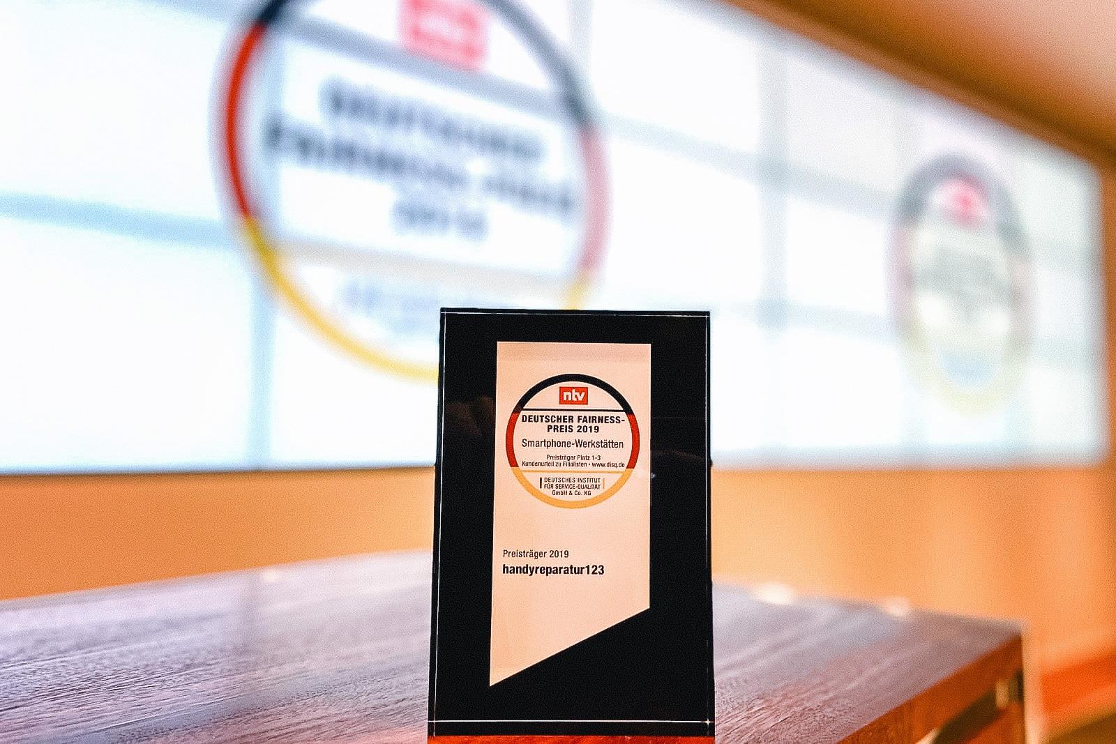 handyreparatur123 erneut mit Deutschem Fairness-Preis ausgezeichnet