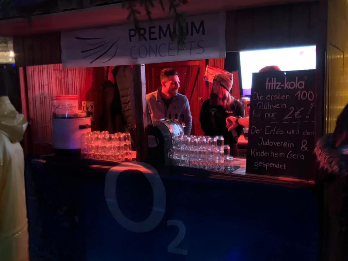 o2 Gera Arcaden Glühweinverkauf