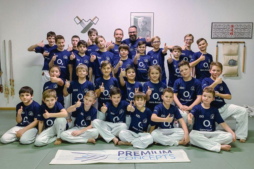 o2 Gera Arcaden Spende Judoverein